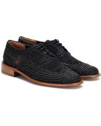 Clergerie Zapatos Derby Japaille de rafia - Negro