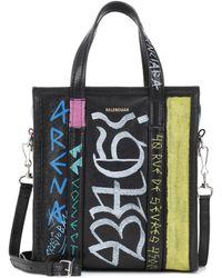 Balenciaga Bazar Xsmall Leather Shopper - Black