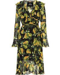 Marc Jacobs Pear Print Wrap Dress - Green