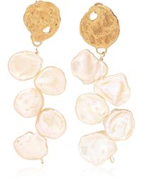 Alighieri - La Jetée 24kt Gold-plated Earrings With Cornflake Pearls - Lyst