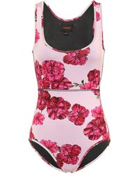 Giambattista Valli Floral One-piece Swimsuit - Pink