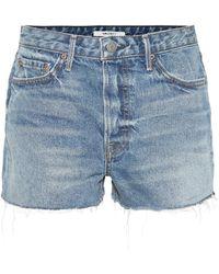 GRLFRND High-Rise Shorts Cindy - Blau