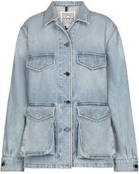 Totême - Exclusivo en Mytheresa - chaqueta cargo de jeans - Lyst