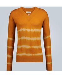 Rochas Jersey con tie-dye cuello en V - Naranja