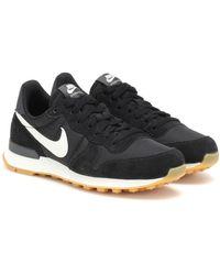 Nike Internationalist Suede Sneakers - Black