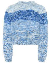 Ganni Pullover in lana e mohair - Blu