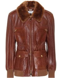 Chloé Leather Jacket - Brown