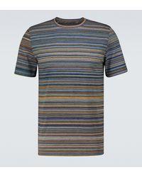 Missoni Gestreiftes T-Shirt aus Baumwolle - Grün