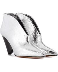 Isabel Marant - Adenn Leather Ankle Boots - Lyst