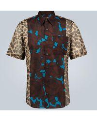 Dries Van Noten Camicia stampata in cotone - Blu