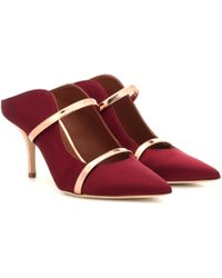 Malone Souliers Maureen Satin Mules - Red