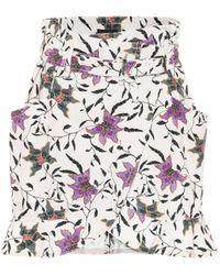 Isabel Marant Roani Printed Cotton Miniskirt - Multicolour