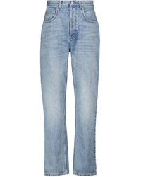 Gucci Les Pommes High-rise Straight Jeans - Blue