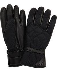 Bogner Cindy Leather-trimmed Ski Gloves - Black