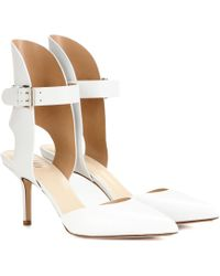 Francesco Russo - Pointed-Toe Leather Court Shoes - Lyst