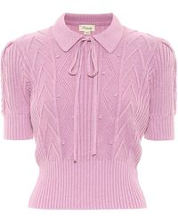 Temperley London Top Shelley en coton - Violet