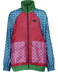 Gucci Chaqueta de chándal GG de sarga de seda - Multicolor