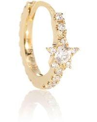 Maria Tash Argolla única Diamond Star Eternity de oro de 18 ct con diamantes - Metálico