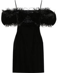 Givenchy Off-the-shoulder Velvet Minidress - Black