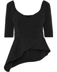 Safiyaa Pilar Stretch-crêpe Top - Black