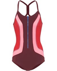 Isabel Marant Color Block Swimsuit - Red