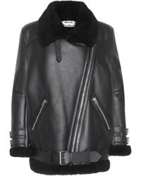 Acne Studios Velocite Shearling Jacket - Black