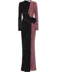 Rebecca Vallance Robe longue Mona à sequins - Noir