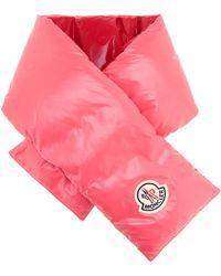 Moncler Daunenschal aus Shell - Pink