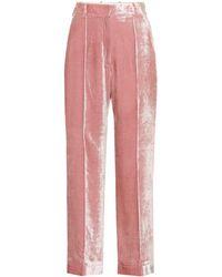 Racil Pantalones de talle alto - Rosa
