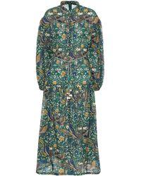 Zimmermann Vestido midi Edie de algodón floral - Verde