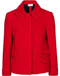 RED Valentino Stretch-cady Jacket - Red