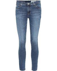 AG Jeans Mid-Rise Jeans The Legging Ankle - Blau