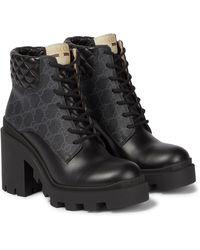 Gucci Ankle Boots GG Supreme - Schwarz