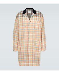 Sacai Madras Checked Coat - Multicolour
