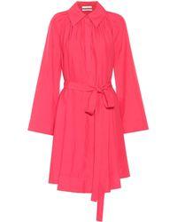 Co. Belted Shirt Dress - Pink