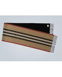Burberry Icon Stripe Cashmere Scarf - Natural