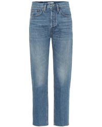 RE/DONE Jeans cropped Stove Pipe - Blu