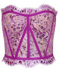 Dolce & Gabbana Bustier aus Spitze - Lila
