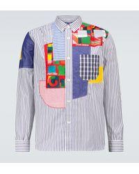 Junya Watanabe Patchwork Shirt - Blue