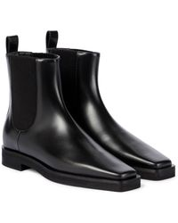 Totême Leather Chelsea Boots - Black