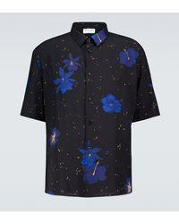 Saint Laurent Short-sleeved Floral Silk Shirt - Multicolor