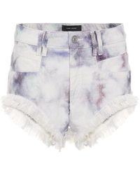 Isabel Marant Eneida Tie-dye Denim Shorts - Blue
