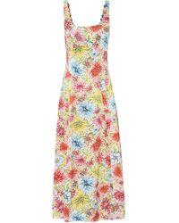 ALEXACHUNG Floral Slip Dress - Multicolour