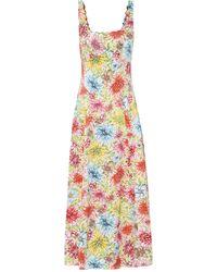 ALEXACHUNG Robe longue imprimés fleurs - Multicolore