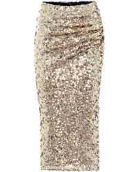 Dolce & Gabbana Sequined Midi Skirt - Metallic