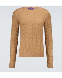 Ralph Lauren Purple Label - Jersey de cachemir trenzado - Lyst