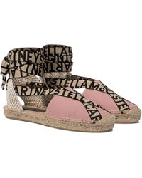 Stella McCartney Espadrilles Gaia aus Canvas - Pink