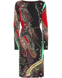 Etro Robe imprimée en jersey - Noir