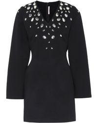 Christopher Kane Crystal-embellished Minidress - Black