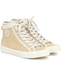 Zimmermann Raffia High-top Sneakers - Natural
